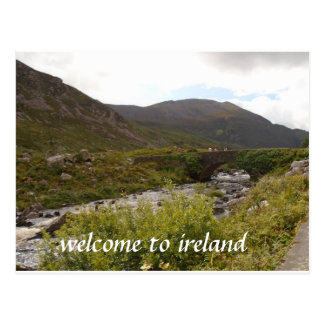 accueil à la carte postale de l'Irlande