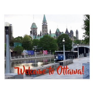 ACCUEIL à la carte postale d'OTTAWA