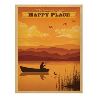 Accueil à mon endroit heureux carte postale