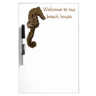 Accueil à notre hippocampe de Chambre de plage Tableaux Blancs Effaçables À Sec