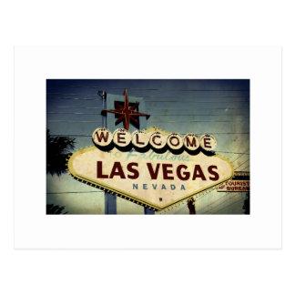 """Accueil carte postale vintage vers Las Vegas"""