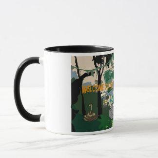 Accueil dans la tasse de café de jungle