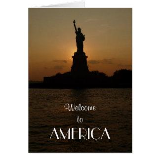Accueil en Amérique/statue de la liberté+Nouveau Carte
