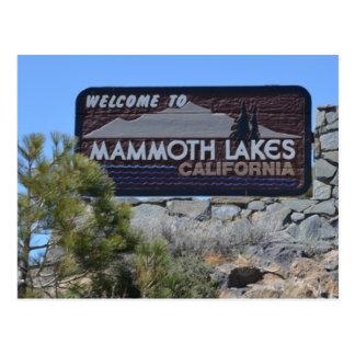 Accueil vers les lacs gigantesques carte postale