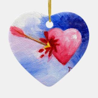 Aceo Piercing de coeur Ornement Cœur En Céramique