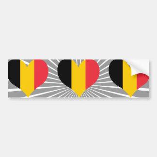 Achetez le drapeau de la Belgique Autocollant Pour Voiture