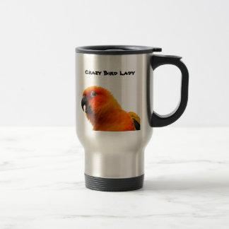 Acier inoxydable de deux perroquets tasse de