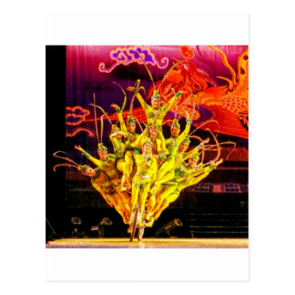 Acrobates de cirque de Pékin Carte Postale
