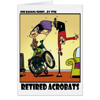 Acrobates retraités carte de vœux