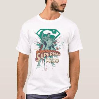 Action de Superman emballée T-shirt