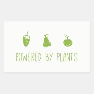 actionné par des plantes sticker rectangulaire