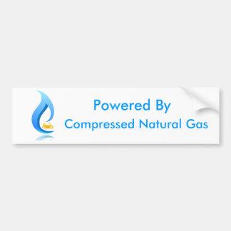 Actionné par le gaz naturel comprimé autocollant de voiture