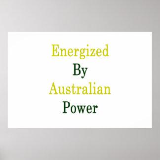 Activé par puissance australienne poster