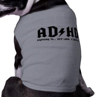 AD/HD T-SHIRT POUR ANIMAL DOMESTIQUE