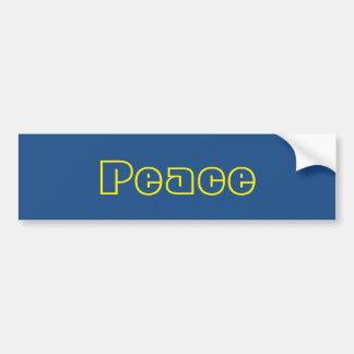 Adhésif pour pare-chocs bleu et jaune de paix autocollant de voiture