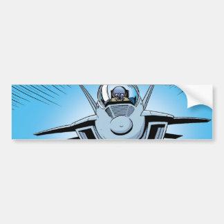 Adhésif pour pare-chocs de bande dessinée d'avion autocollant de voiture