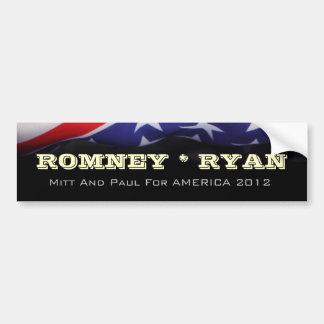 Adhésif pour pare-chocs de campagne de ROMNEY RYAN Autocollant De Voiture