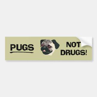Adhésif pour pare-chocs de drogues de carlins pas autocollant de voiture