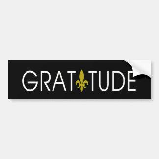 Adhésif pour pare-chocs de gratitude autocollant de voiture
