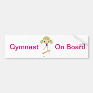 Adhésif pour pare-chocs de gymnaste à bord autocollant de voiture