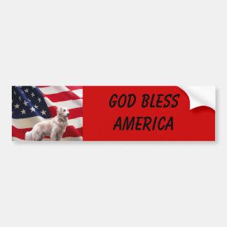 Adhésif pour pare-chocs de l'Amérique de golden re Autocollant De Voiture