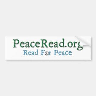 Adhésif pour pare-chocs de PeaceRead.Org - avec Autocollant De Voiture