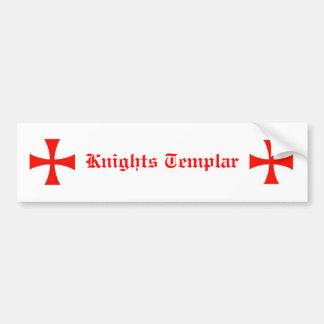 Adhésif pour pare-chocs de Templar de chevaliers Autocollant De Voiture