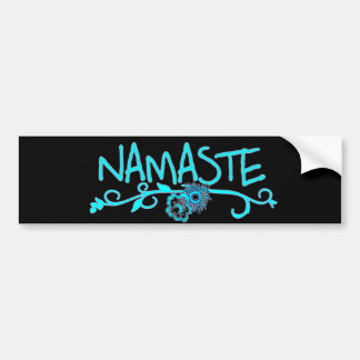 Adhésif pour pare-chocs de yoga de Namaste Autocollant De Voiture
