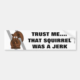 Adhésif pour pare-chocs drôle d'écureuil autocollant de voiture