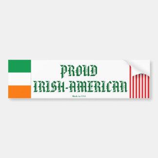 Adhésif pour pare-chocs Irlandais-Américain fier Autocollant De Voiture