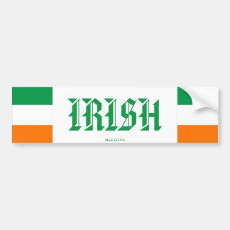 Adhésif pour pare-chocs irlandais autocollant de voiture