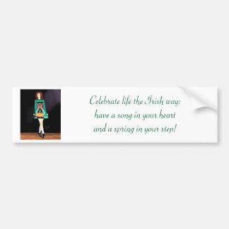 Adhésif pour pare-chocs irlandais de danseur autocollant de voiture