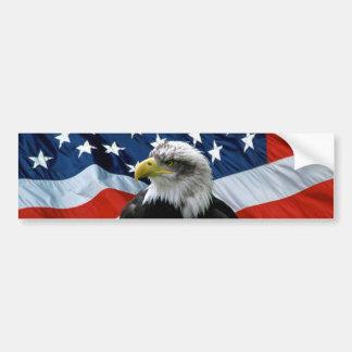 Adhésif pour pare-chocs patriote de drapeau améric autocollant de voiture