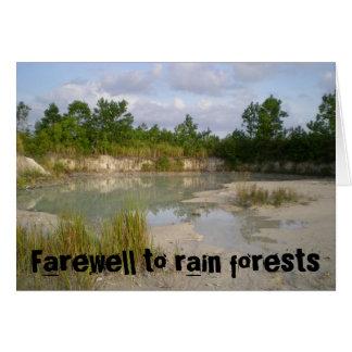 Adieu à la carte de forêts tropicales