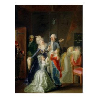 Adieu à Louis XVI par sa famille Carte Postale