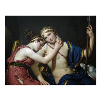 Adieu de Jacques David de Telemachus et d'Eucharis Carte Postale