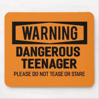 Adolescent dangereux d'avertissement Mousepad Tapis De Souris