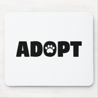 Adoptez le tapis de souris d'empreinte de patte de