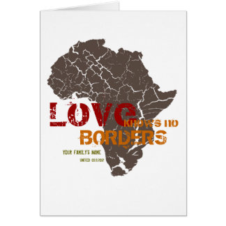 Adoption africaine - cartes de faire-part