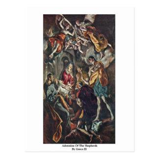 Adoration des bergers par EL de Greco Carte Postale