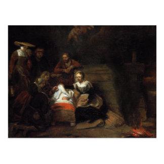Adoration par les bergers par Samuel Hoogstraten Carte Postale