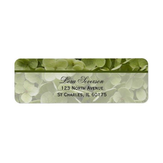 Adresse de retour d'Annabelle de fleur verte Étiquette D'adresse Retour