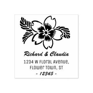 Adresse de retour nommée tropicale du fleur