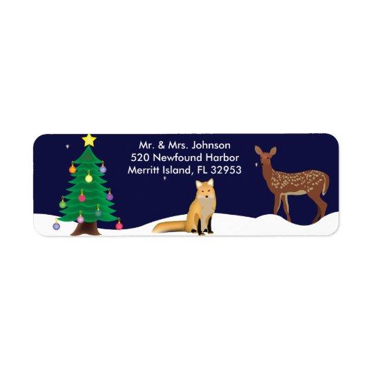 Adresse Lables de Noël du pays des merveilles Étiquettes D'adresse Retour