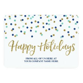 Affaires bleues de cartes de Noël de confettis