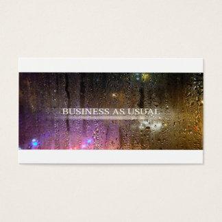 affaires comme d'habitude cartes de visite