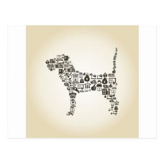 Affaires de chien carte postale