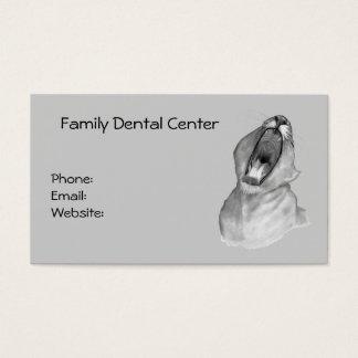 Affaires de dentiste : Bouche béante : Crayon : Cartes De Visite