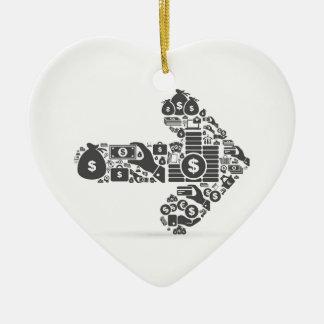 Affaires de flèche ornement cœur en céramique