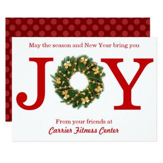 Affaires de guirlande de joie - carte de Noël 3x5
